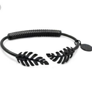 NEW! Kinsley Armelle Black Laurel Leaf Bracelet